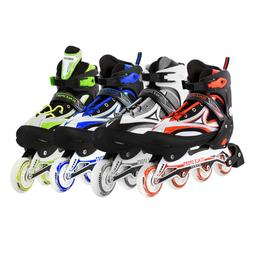 Adjustable Men Inline Skates Roller Blades Adult Size 8-11