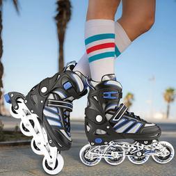 Adjustable Men Inline Skates Roller Blades Adult Size S-L Br