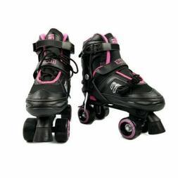 Mongoose Adjustable Quad Roller Skate- Pink and Black- Sizes