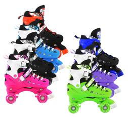 Adjustable Quad Roller Skates For Kids Size 13.5 Junior To 9