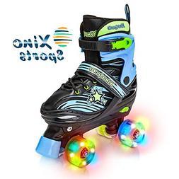 Kids Adjustable Roller Skates Girls & Boys Light Up Wheels S