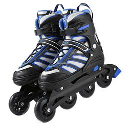 Adult Cool Breathable Adjustable Size Inline Skates PU Rolle