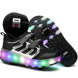 Adult Kids Teens Roller Skate Shoes Wheel Sneaker Boys Girls