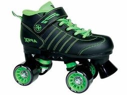 Lynx Apex Kids Quad Roller Rink Skate Green 3 New