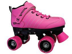 Apex Kids Quad Roller Rink Skate Pink 13J