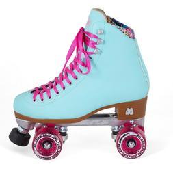 Moxi Beach Bunny Indoor Outdoor Quad Roller Skates + Toe Gua