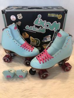 Moxi Beach Bunny Roller Skates Blue Sky Size 7  New In Box!