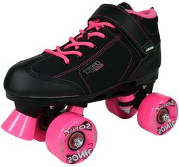 BLACK AND PINK PACER GTX 500 SONIC OUTDOOR SPEED ROLLER SKAT