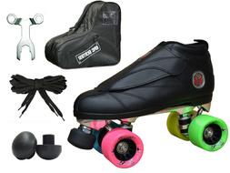 Black & Rainbow Epic Skates Evolution Quad Roller Jam Speed