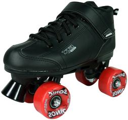 BLACK AND RED PACER GTX 500 SONIC OUTDOOR SPEED ROLLER SKATE