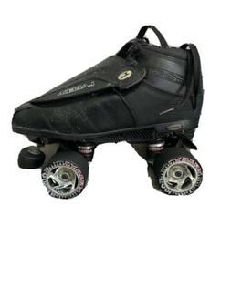 Black Labeda G80 Knight Rider Leather Quad Speed Roller Derb
