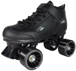 Black GTX-500 Quad Roller Speed Skates