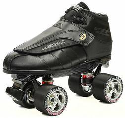 Black Labeda G80  Knight Rider Leather Quad Speed Roller Der