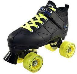 Black Pacer Mach 5 GTX-500 Quad Speed Roller Skates with Yel