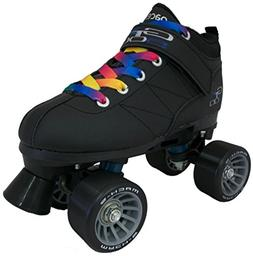 Black Pacer Mach-5 GTX500 Quad Speed Roller Skates w/ 2 Pair