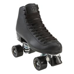 Black Riedell RW Classic High Top Wave Quad Roller Skates