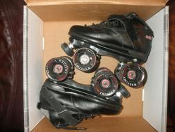 Black Sure-Grip Rebel Roller Skates w/ TWISTER WHEELS Size