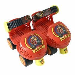 Playwheels Blaze Rollerskate with Knee Pads