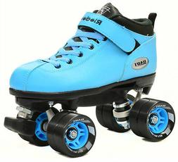 blue dart quad roller derby speed skates