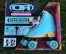 Roller Derby Blue Pink Roller Skates girls adjustable PIXIE