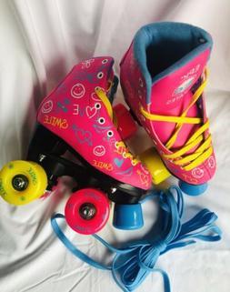 Epic Blush Fun Quad Girl Roller Skates Size J10 NEW!