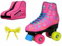 Epic Blush High-Top Indoor/Outdoor Quad Roller Skate 3 Pc. B