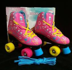 Epic Skates Blush Quad Roller Skates, Pink, Kids Size 3