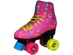 Epic Skates Blush Quad Roller Skates, Pink, Juvenile Size 12