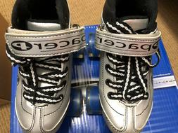 BOYS Pacer Comet 500 Silver/Black Quad Roller Skates Junio
