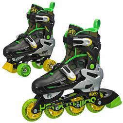 BOYS ROLLER DERBY FLUX INLINE / QUAD INTERCHANGEABLE SKATE