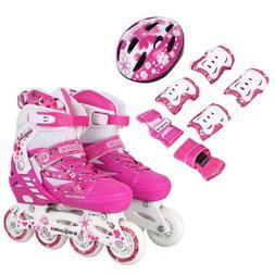 Boys/Girls Adjustable Roller Blades Inline Skates Skating Se
