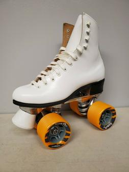 Brand New Riedell 120 Leather Boot Roller Skates Girls size