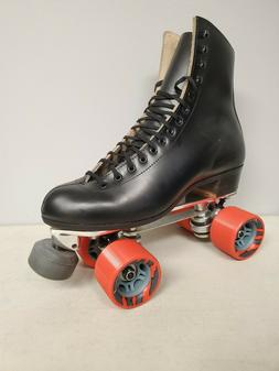 brand new 220 leather boot roller skates