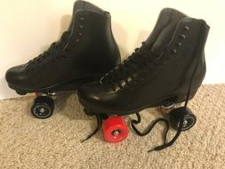 Brand New Leather Riedell 120 Uptown Skate Package Mens Size