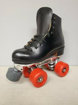 Brand New Riedell 120 Leather Boot Roller Skates Boys size 2