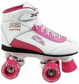 Brand New ZTX Kids Roller Skates Girls White & Pink size 12