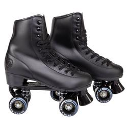 C7skates Soft Faux Leather Roller Skates Classic Ebony Black