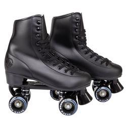 C7skates Soft Faux Leather Roller Skates Classic Ebony Black