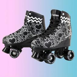 Cal 7 Roller Skates Skating Graphic Faux Leather Boot PVC Fr