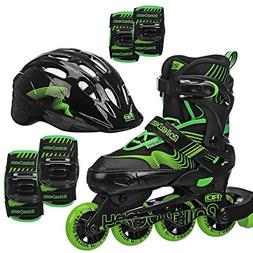 Roller Derby Carver Inline Combo Skate and Protective Gear B