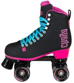Chaya Melrose Black & Pink Indoor/Outdoor Roller Skates. New