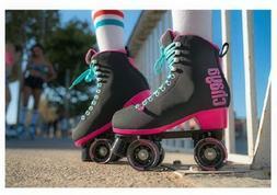 Chaya Melrose Quad Roller Skates Black and Pink New Sz 10 Sp