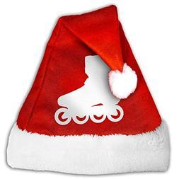 Cheerful Christmas Snowflake Hat Silhouette Roller Skates Sa
