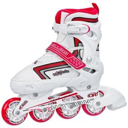 Roller Derby Girl's Cheetah S4 Adjustable Inline Skates, Med