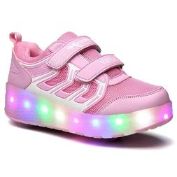 Chic Sources Boys Girls Light up Roller Shoes With 2 wheels