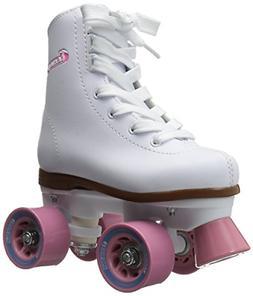 Chicago Girl's Classic Roller Skates – White Rink  Skate
