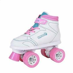 Chicago Girls Sidewalk Roller Skate - White Youth Quad Skate