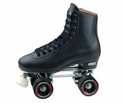 Chicago Men's Leather Lined Rink Roller Skate , Black