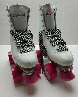 Chicago Skate 400 White Quad Roller Skates Women's Size 5