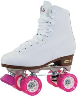 Chicago Women's Classic Roller Skates - Premium White Quad A